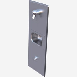 Single-Panel Stainless Steel Security Shower for Rear Mount (Chase) Application