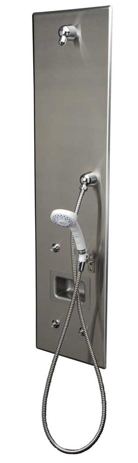 ADA, Single-Panel Stainless Steel Security Shower for Rear Mount (Chase) Application