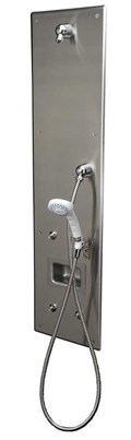 Front Access, ADA, Single-Panel Stainless Steel Security Shower