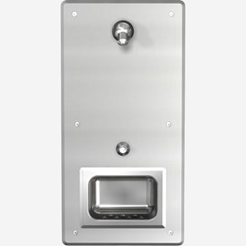 Front Access, Single-Panel Stainless Steel Security Shower