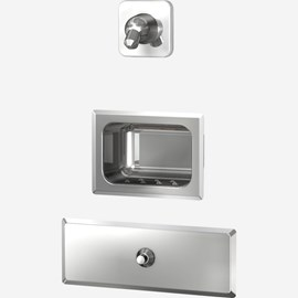 Stainless Steel Security Shower (Head & Valve on Separate Panels) for Rear Mount (Chase) Application