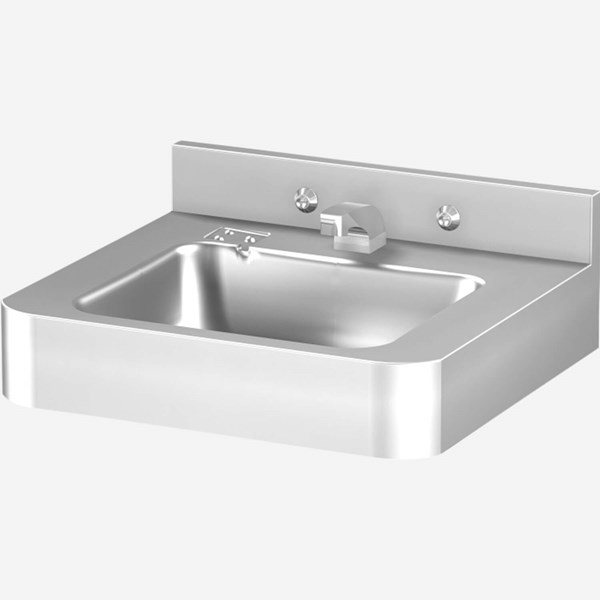 18 X Front Mount Stainless Steel Lavatory With Rectangle Bowl