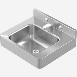 "20"" x 18"" Front Mount Stainless Steel Lavatory with Rectangle Bowl Configured for Mounting Carrier"