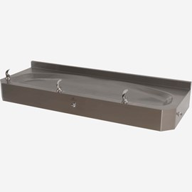 "50"" Wide, ADA, Three Station Trough Drinking Fountain"