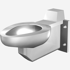 Off-Floor, Siphon Jet  Stainless Steel Toilet for Front Mount