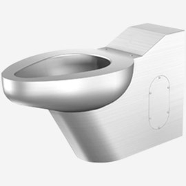 On-Floor, Floor Waste, Siphon Jet Commercial Stainless Steel Toilet