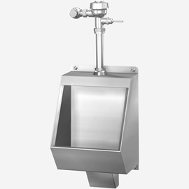 Blowout Jet Stainless Steel Urinal for Front Mount
