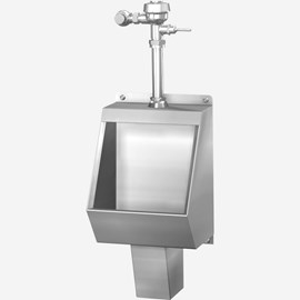 Washout Stainless Steel Urinal for Front Mount