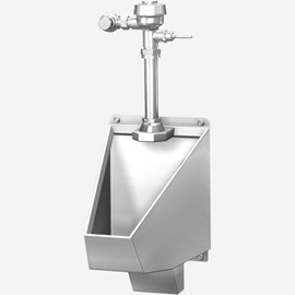 ADA Blowout Jet Stainless Steel Straddle Type Urinal for Front Mount