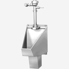 ADA Washout Stainless Steel Straddle Type Urinal for Front Mount