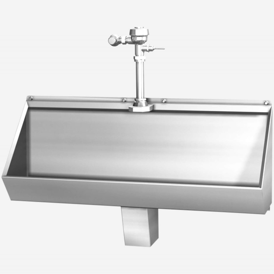2174 Stainless Steel Trough Urinal 4 Foot Acorn