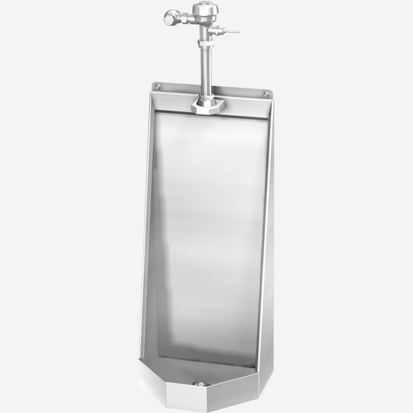 Ada Stainless Steel Stall Type Urinal For Rear Mount