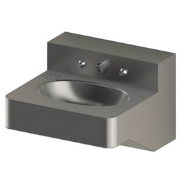 "18"" ADA Security Stainless Steel Lavatory with Oval Bowl for Rear Mount (Chase) Application"