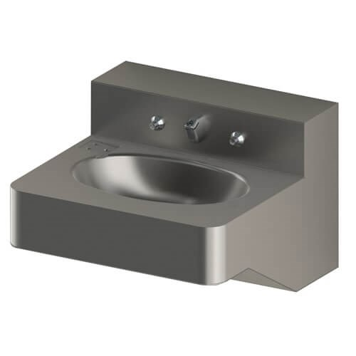 18 Quot Ada Security Stainless Steel Lavatory With Oval Bowl