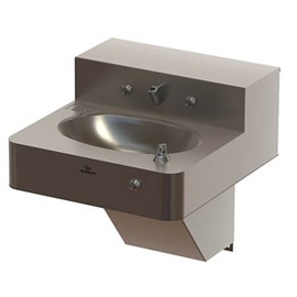 "18"" Front Access ADA Security Stainless Steel Lavatory with Oval Bowl"