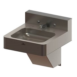 "18"" Front Access ADA Security Stainless Steel Lavatory with Rectangular Bowl"