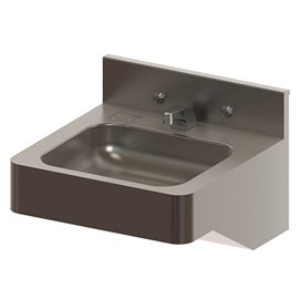 "18"" ADA Security Stainless Steel Lavatory with Rectangular Bowl for Rear Mount (Chase) Application"