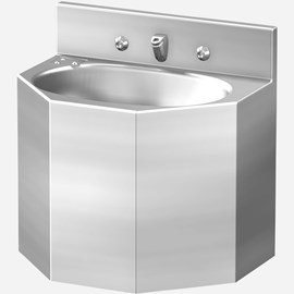 "18"" Replacement Multi-Sided Security Stainless Steel Lavatory for Rear Mount (Chase) Application"