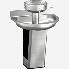 Three Station Semi-Circular Stainless Steel Wash Fountain