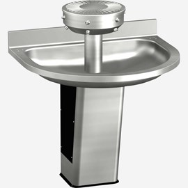 Four Station, ADA, Semi-Circular Stainless Steel Wash Fountain
