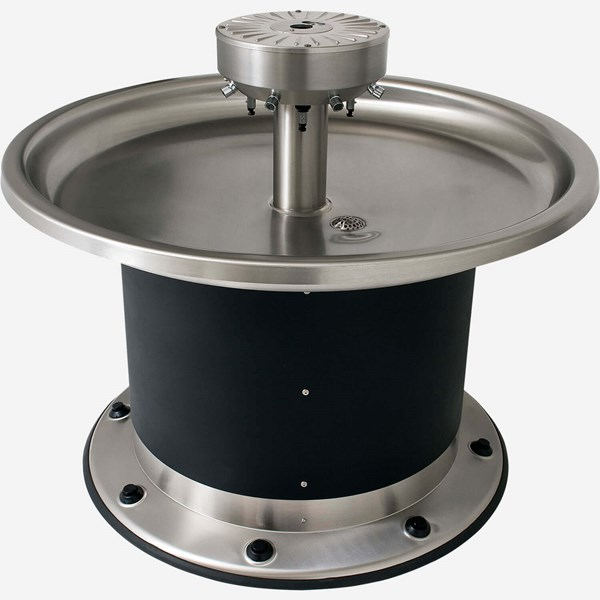 Eight Station Circular Stainless Steel Wash Fountain
