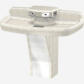 Terrazzo, ADA, Quad-Lav (Four Station) Wash Fountain