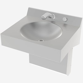 One Station Straight Front Stainless Steel Wash Basin