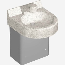 One Station Curved Front Cast Solid Surface (Corterra®) Wash Basin
