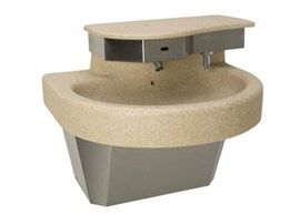 One Station Cast Solid Surface (Corterra®) Kurve® Wash Basin