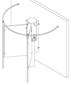 Circular Privacy Compartment for 600 Series Shower
