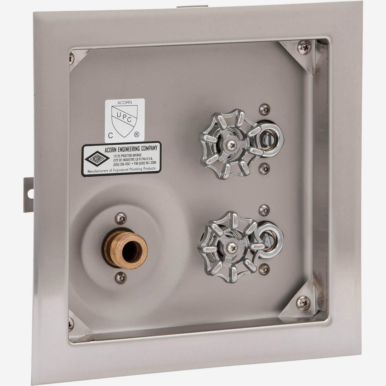 Delicieux No Door, No Vacuum Breaker, Stainless Steel Recessed Hot U0026 Cold Hose Box