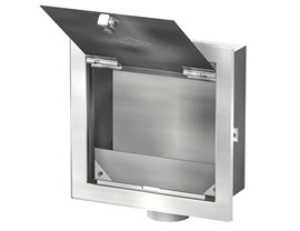 Blank Recessed Box with Door & Wall Flange