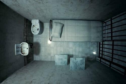 prison cell interior