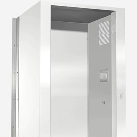 Option: Vertical Cabinet Closure - Angled Left