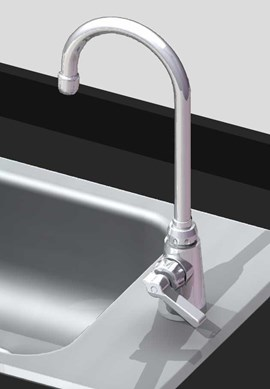 Option: Chrome Pantry Faucet with Wrist Blade Handles, Single-Temp
