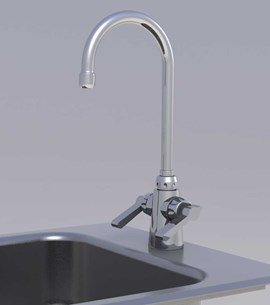 Option: Chrome Pantry Faucet with Wrist Blade Handles, Hot & Cold