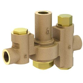 9.8 GPM, Emergency Fixture Thermostatic Mixing Valve, 1/2 Inch NPT Inlets and Outlet