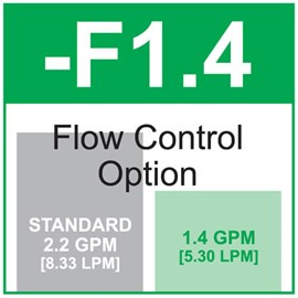 Option: Flow Control 1.4 GPM