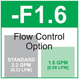 Option: Flow Control 1.6 GPM