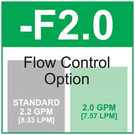 Option: Flow Control 2.0 GPM