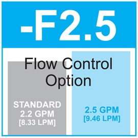 Option: Flow Control 2.5 GPM