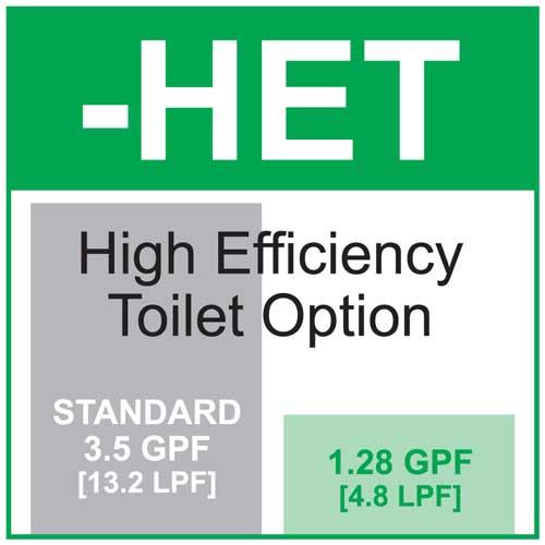 option high efficiency toilet flush 128 gallons 485 liters per flush