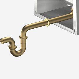 Option: Lavy Waste Basin Waste Thru-Wall Connection With P-trap