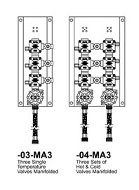 Option: Manifolded Valves, 3 Set