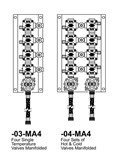 Option: Manifolded Valves, 4 Set