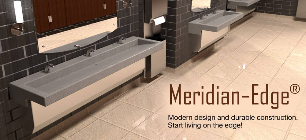 Meridian-Edge Modern Trough Trench Sink