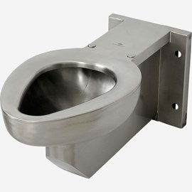 Stainless Steel Replacement for Most Off-Floor Vitreous China Siphon Jet Toilet, Front Mount