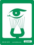 Option: Safety Equipment Sign for Eye Wash or Eye Face Wash