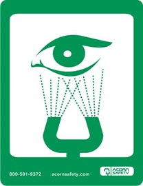 Universal Safety Equipment Sign for Eye Wash or Eye Face