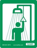 Option: Safety Equipment Sign for Shower